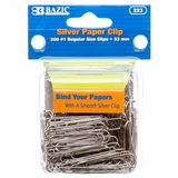 PAPER CLIP 33MM 200PC REGULAR SIZE