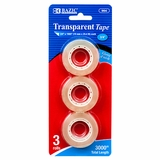 TAPE REFILL 3PC TRANSPARENT