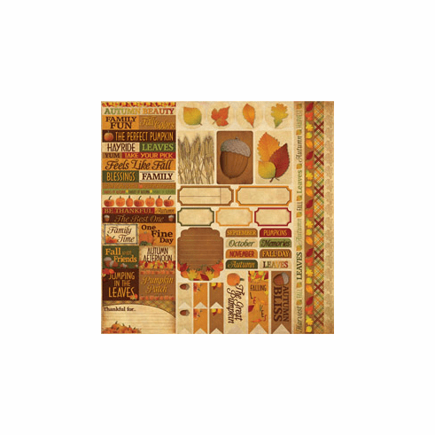 Autumn 12x12 Cardstock Sticker