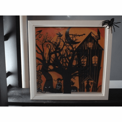 Halloween Project for the 12x12 Shadow Box