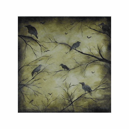 Painted Page Creepy Crows