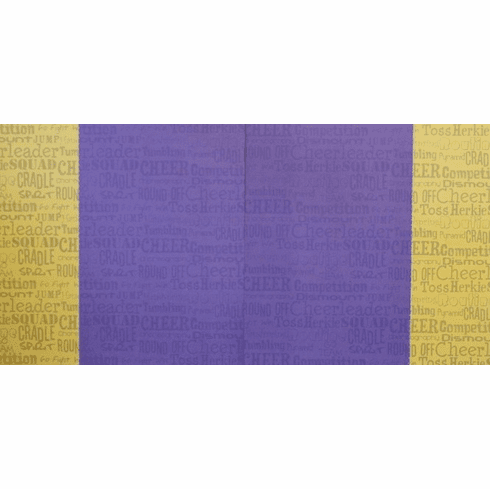 Stitched Cheer Purple Yellow