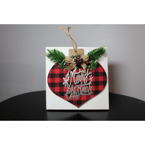 Thankful Heart 6x6 Merry Christmas Canvas Project