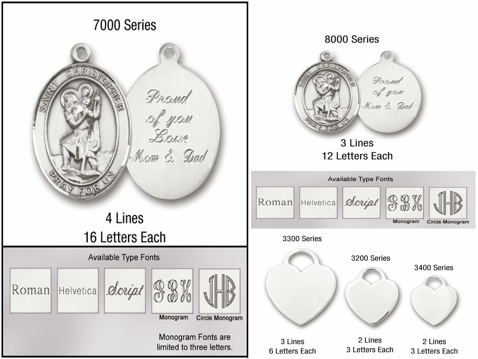Bliss Manufacturing Engraving Options