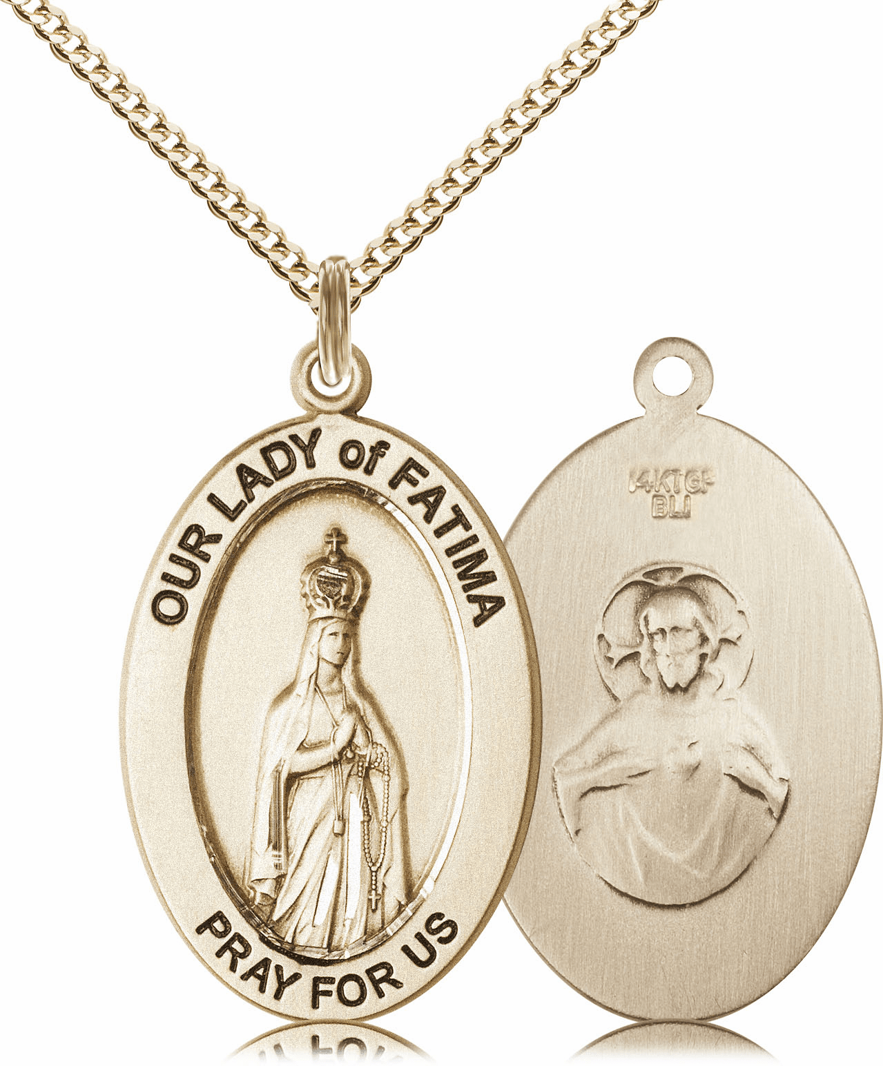 Bliss Mfg Our Lady of Fatima 14kt Gold-filled Medal Necklace w/Chain
