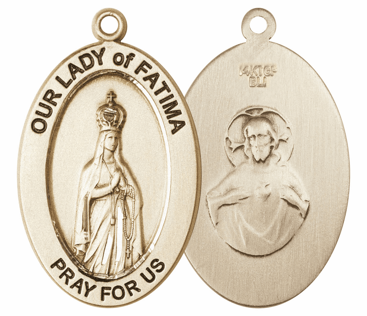 Bliss Mfg Our Lady of Fatima 14kt Gold Medal Pendant