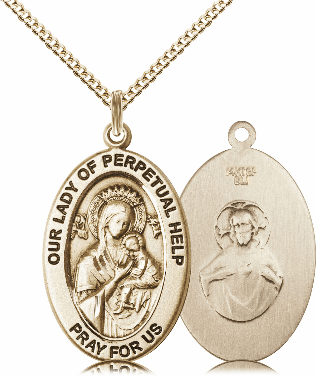 Bliss Mfg Our Lady of Perpetual Help 14kt Gold-filled Medal Necklace w/Chain