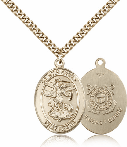 Bliss Mfg St Michael Gold Filled Coast Guard Patron Saint Medal