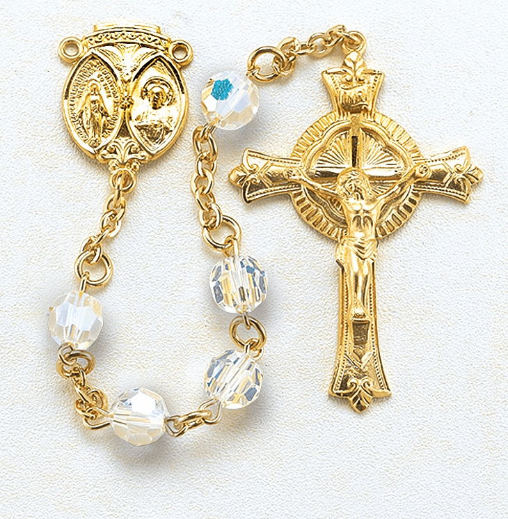 HMH Religious Catholic Prayer Gold Over Sterling Rosaries