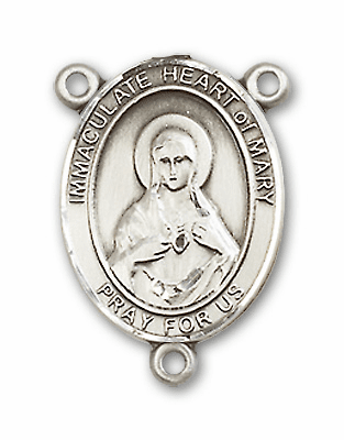 Immaculate Heart of Mary Sterling Silver Saint Rosary Center by Bliss