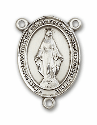 Miraculous Medal Patron Saint Catholic Rosary Center by Bliss Manufacturing