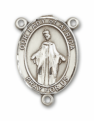 Our Lady of Africa Sterling Silver Saint Rosary Center by Bliss
