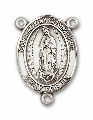 Our Lady of Guadalupe Sterling Silver Saint Rosary Center by Bliss