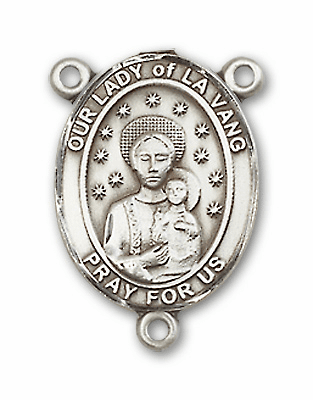 Our Lady of La Vang Sterling Silver Saint Rosary Center by Bliss