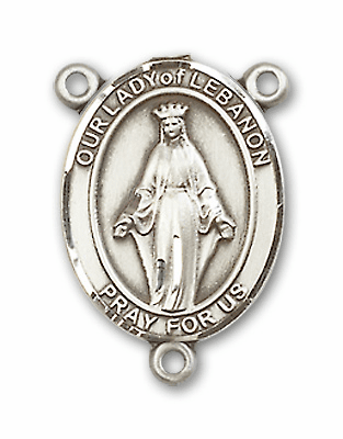 Our Lady of Lebanon Sterling Silver Saint Rosary Center by Bliss
