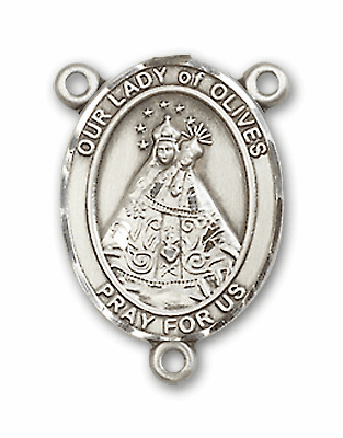 Our Lady of Olives Sterling Silver Saint Rosary Center by Bliss