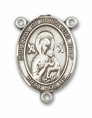 Our Lady of Perpetual Help Sterling Silver Saint Rosary Center by Bliss