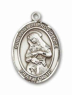 Our Lady of Providence Sterling Silver Saint Rosary Center by Bliss