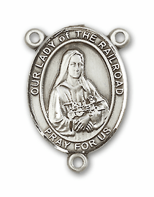 Our Lady of the Railroad Sterling Silver Saint Rosary Center by Bliss