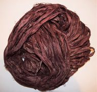 10 Yards Sari Silk Ribbon Walnut