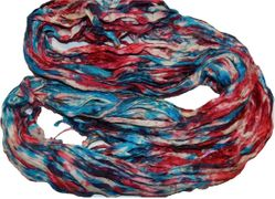 10 Yards Sari SILK Ribbon Americana Tie Dye