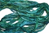 10 Yards Sari SILK Ribbon Aqua Duppioni