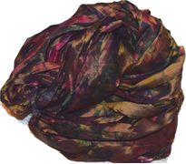10 Yards Sari SILK Ribbon Berry Tie Dye