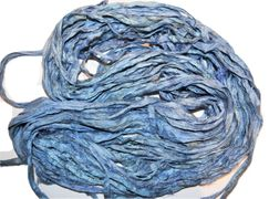 10 Yards Sari SILK Ribbon Blue Cadet