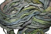 10 Yards Sari SILK Ribbon Fern Green