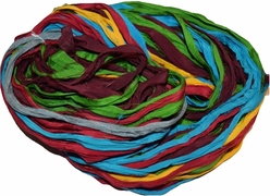 10 Yards Sari SILK Ribbon Fiesta Chiffon Multi