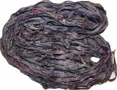 10 Yards Sari SILK Ribbon Grey Purplish