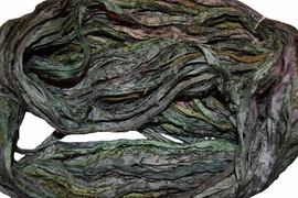 10 Yards Sari SILK Ribbon Hunter Green