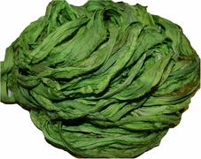 10 Yards Sari SILK Ribbon Lime Green