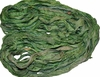 10 Yards Sari SILK Ribbon Mantis Green