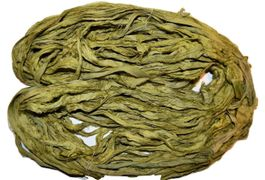 10 Yards Sari SILK Ribbon Moss