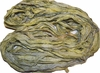 10 Yards Sari SILK Ribbon Olive Yellow