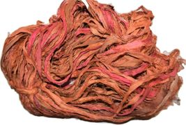 10 Yards Sari SILK Ribbon Orange Mix