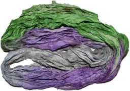 10 Yards Sari SILK Ribbon Pancy Silver