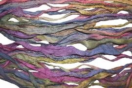 10 Yards Sari SILK Ribbon Pastel Rainbow