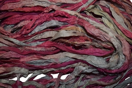 10 Yards Sari SILK Ribbon Pink Multi