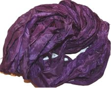 10 Yards Sari SILK Ribbon Plum
