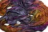 10 Yards Sari SILK Ribbon Purple Yellow