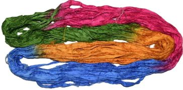 10 Yards Sari SILK Ribbon Rainbow Tie