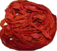 10 Yards Sari SILK Ribbon Red