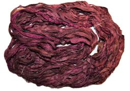 10 Yards Sari SILK Ribbon Sangria