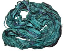 10 Yards Sari SILK Ribbon Sea Green Purple