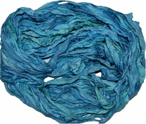 10 Yards Sari SILK Ribbon Teal Blue
