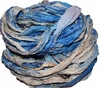 10 Yards Sari SILK Ribbon Teal Cream