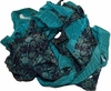 10 Yards Sari SILK Ribbon Teal Print Chiffon