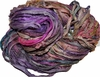 10 Yards Sari SILK Ribbon Violet Orange